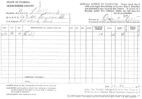 Nora Kirsch Lore McCormack tax receipt.png