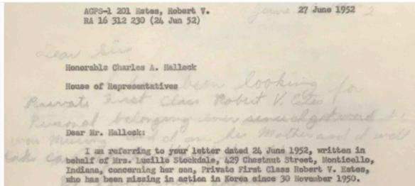 Robert Vernon Estes record 15