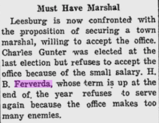 Hiram Ferverda 1915 Marshall resign.png