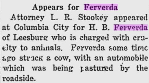 Hiram Ferverda 1916 cow attorney.png