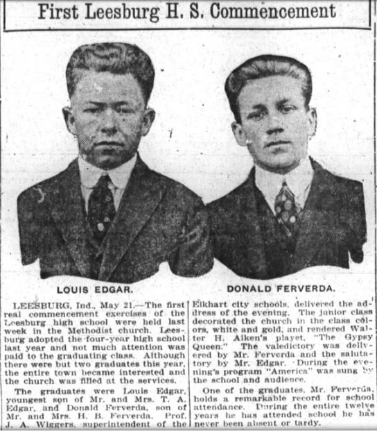 Hiram Ferverda 1917 Donald graduation.png