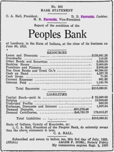 Hiram Ferverda 1922 bank 2.png