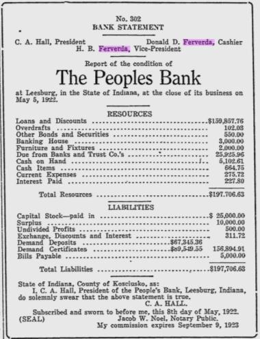 Hiram Ferverda 1922 bank.png