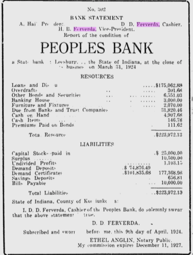 Hiram Ferverda 1924 bank 2.png