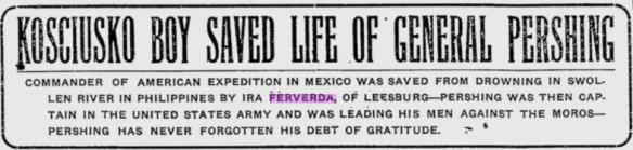 Hiram Ferverda Ira saved Gen Pershing.png