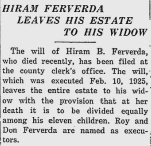 Hiram Ferverda estate to widow.png