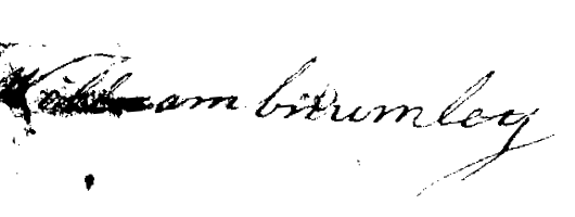 William Crumley 1796 signature