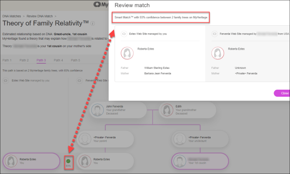 MyHeritage review match