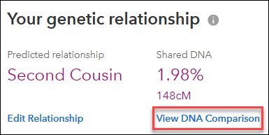 First Steps 23andMe view DNA Comparison.png
