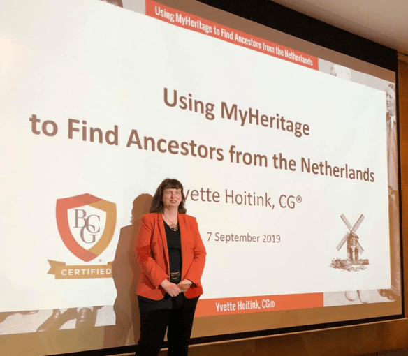 MyHeritage Live Yvette Hoitink
