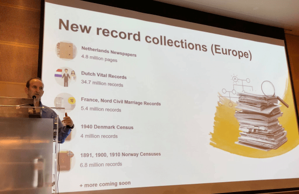 MyHeritage Live record collections