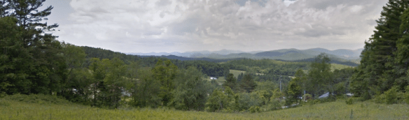 Daniel Vannoy's land from Blue Ridge Parkway
