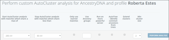 Genetic Affairs Ancestry autocluster