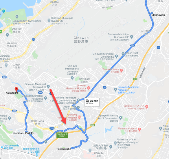 Sadowski Okinawa google map.png