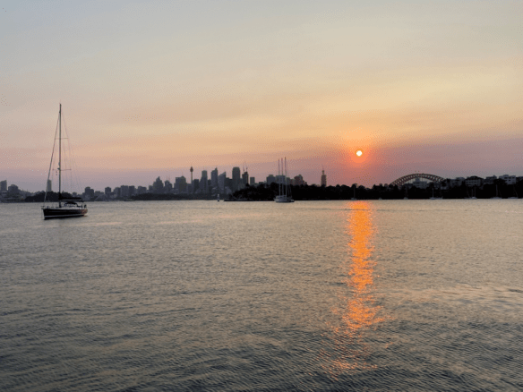 Australia Sydney harbour sunset.png