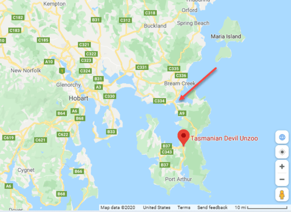 Tasmania UnZoo map.png
