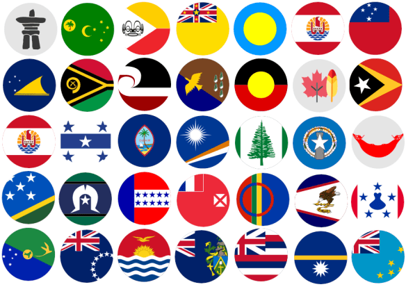 Countries of origin flags