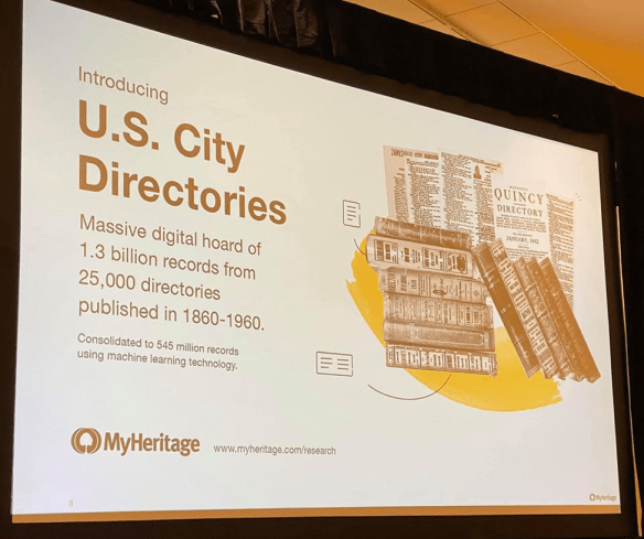 RootsTech 2020 MyHeritage city directories