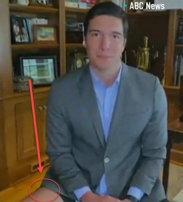 reporter no pants