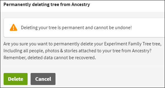 Download Ancestry delete