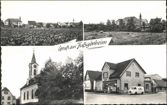 Kirsch Fussgoenheim post card