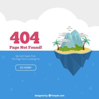 404 - Seul sur une île déserte à la recherche de la page perdue