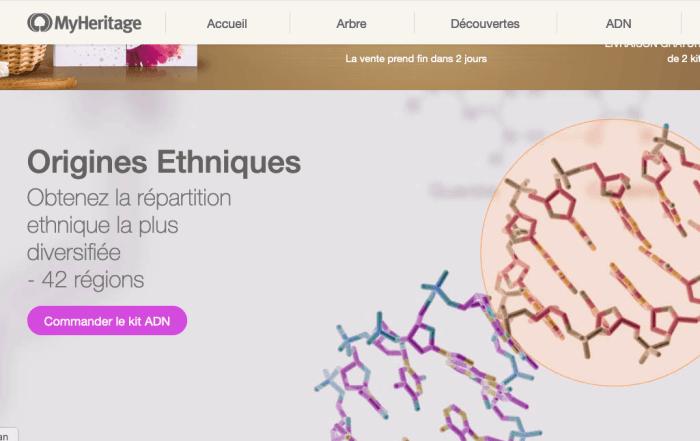 MyHeritage se vante d'avoir le meilleur panel ethnique avec ses 42 régions ! Bien loin des 500 régions d'Ancestry !