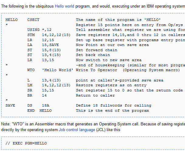 picture - assembler code