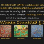 Five Women Connected & Seen front of invitation