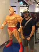 Dave pretending he's an action figure