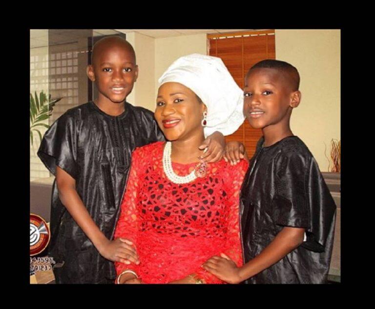 2face Idibia Babymama, Sumbo Ajaba and her two sons