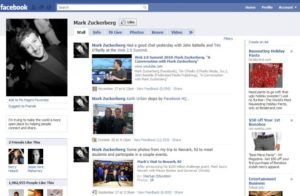 Facebook 2008 interface