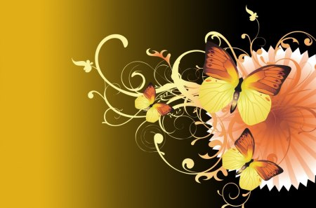 Free Fall Desktop Wallpaper Downloads Butterfly Gold Collages Amp Abstract Background Wallpapers