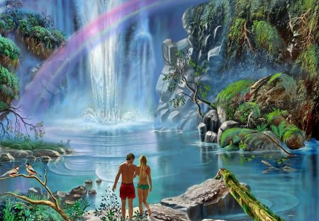 Angel Falls Hd Wallpaper Paradise Fantasy Amp Abstract Background Wallpapers On