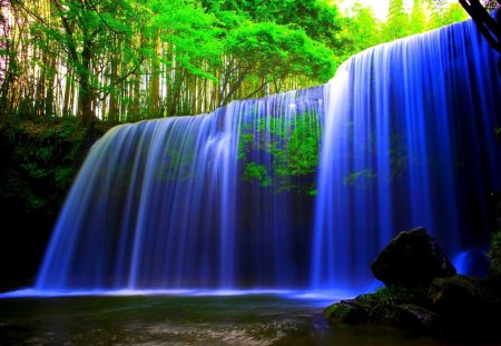 Free Fall Waterfall Desktop Wallpaper Paradise Waterfall Other Amp Nature Background Wallpapers