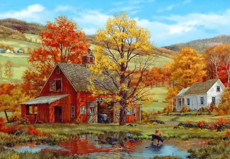 Falling Skies Wallpaper 1920x1080 Mountain Village In Autumn Other Amp Abstract Background