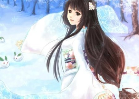 snow maiden other anime background wallpapers on desktop nexus image