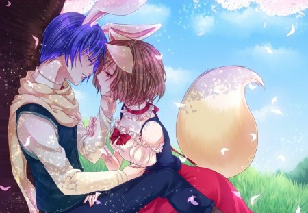 Cute Girl And Boy Kissing Wallpaper Neko Lover Other Amp Anime Background Wallpapers On