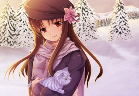 Beautiful Girl With Hat Wallpapers Winter Wonderland Other Amp Anime Background Wallpapers On