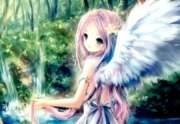 forest angel - & anime background