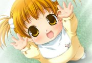 cute baby - & anime background