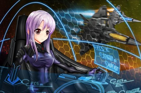 Anime Girl Wallpaper Rainbow Hair Air Pilot Other Amp Anime Background Wallpapers On Desktop
