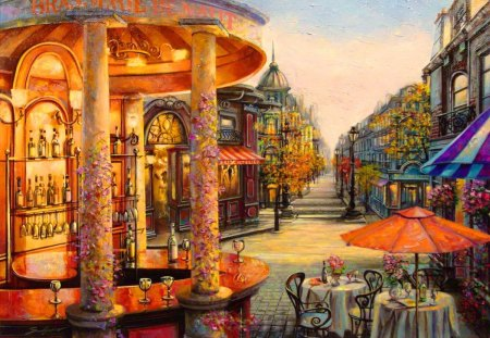 Pretty Anime Wallpaper Street Cafe Other Amp Abstract Background Wallpapers On