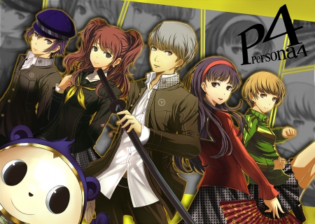 Persona 4 Cute Chie Wallpaper Persona 4 Gang Other Amp Anime Background Wallpapers On