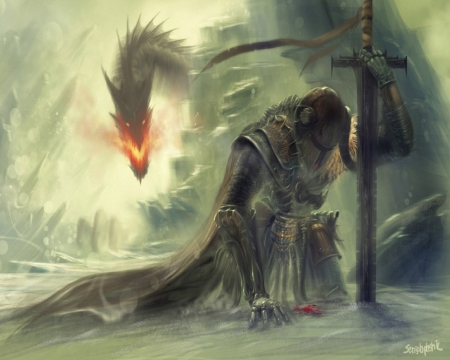 Fallen Hero  Fantasy  Abstract Background Wallpapers on