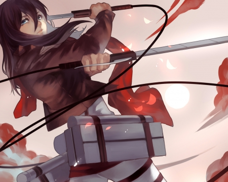 Attack On Titan Cute Wallpaper Mikasa Ackerman Other Amp Anime Background Wallpapers On