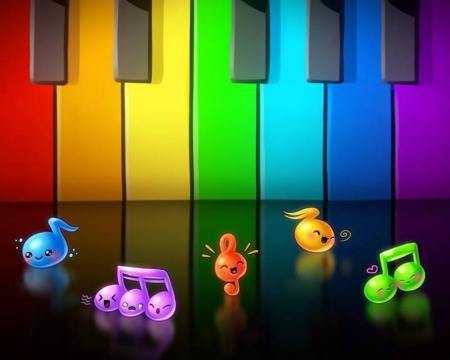Cute Earphones Wallpaper Cute Musical Notes 3d And Cg Amp Abstract Background