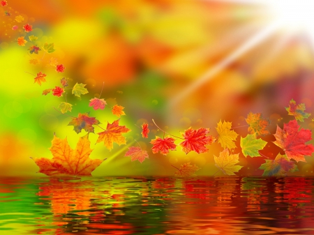 Fall Leaves Fox Wallpaper Autumn Fantasy 3d And Cg Amp Abstract Background