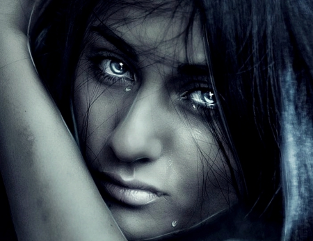 Hd Wallpaper Crying Girl Silent Tears 3d And Cg Amp Abstract Background Wallpapers