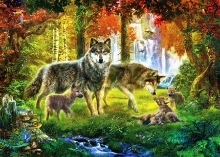 Cute Wallpapers For Springtime Wolf Family Other Amp Abstract Background Wallpapers On